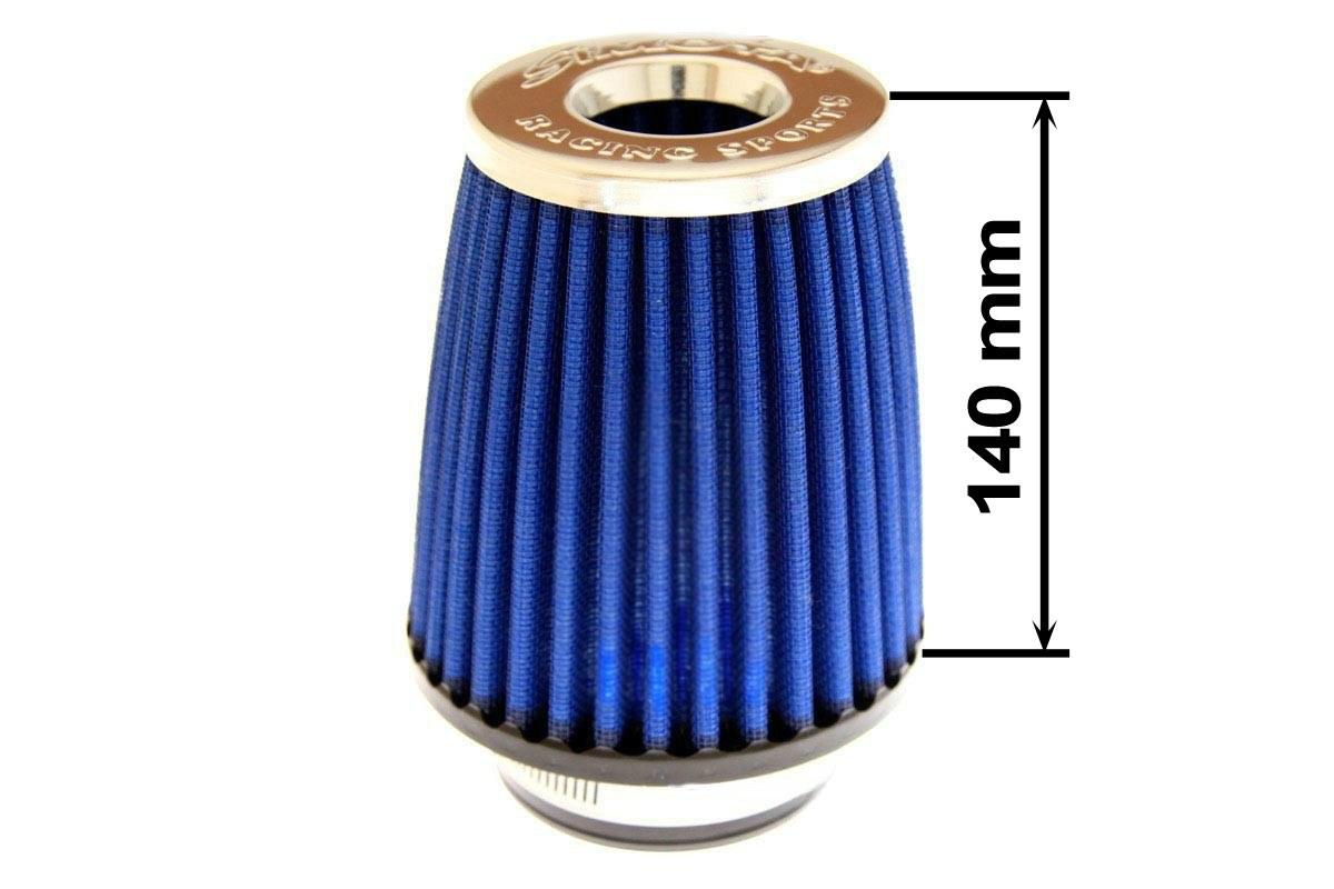 Filtr stożkowy SIMOTA JAU-X12209-05 60-77mm Blue - GRUBYGARAGE - Sklep Tuningowy